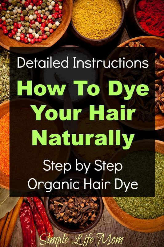 How to Dye Your Hair Naturally - Organic Herbal Hair Dye Instructions step by step from Simple Life Mom