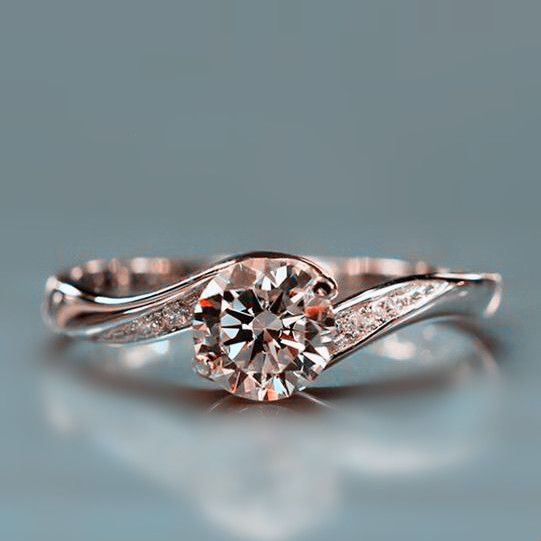 Twist Design Fake Diamond Engagement Ring Gorgeous Rings In 2018 Pinterest And