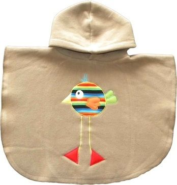 PONCHO POLAR BORDADO — Charly Kids