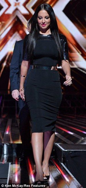 Tulisa Contostavlos Dress Fashion The X Factor Wearing Victoria Beckham