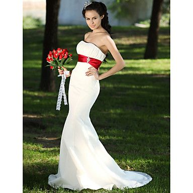 CAROLINE - Vestido de Novia de Satén – USD $ 98.99