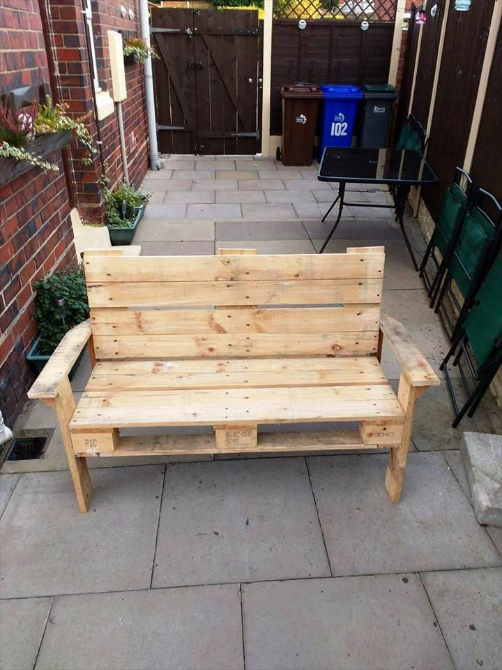 DIY Pallet Bench | 101 Pallet Ideas