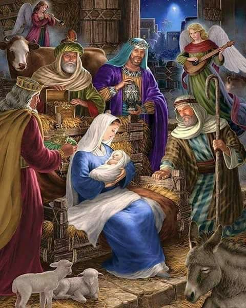 Religiöse Weihnachtsbilder.Oh Come And Let Us Worship Our Christ иσëℓ Christmas Nativity