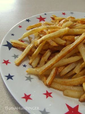 "Oven ""Fried"" French fries with Paprika... Weight Watchers Recipe  YUMMY!"