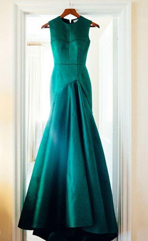 Evening dress green discharge