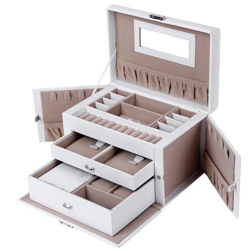 Songmics Boîte à bijoux Mallette/ coffrets/ boîte à maquillage, bijoux et cosmétique beauty Case JBC121W Songmics-Display http://www.amazon.fr/dp/B00FXJ3WG2/ref=cm_sw_r_pi_dp_AMdaxb1KYQZ8X