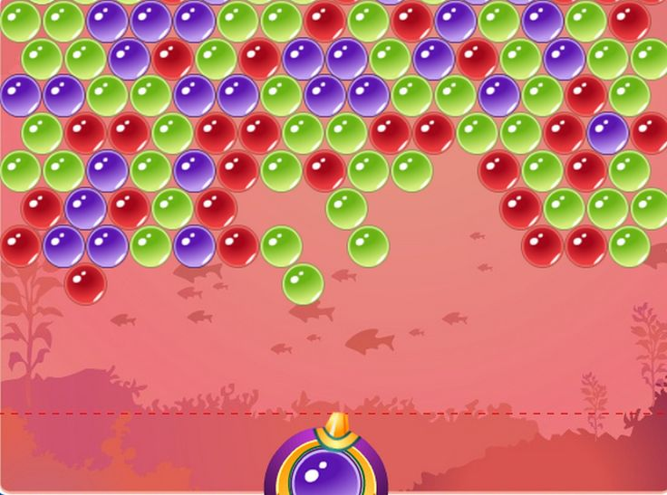 Classic Bubble Shooter game in HTML5. Shoot bubbles up and create groups of 3 or more of the same bubbles to remove them.