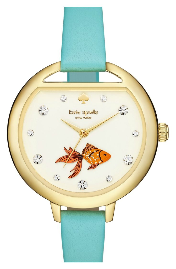 This 'fishbowl' watch from Kate Spade is truly adorable. Especially with the little goldfish swimming at the bottom!