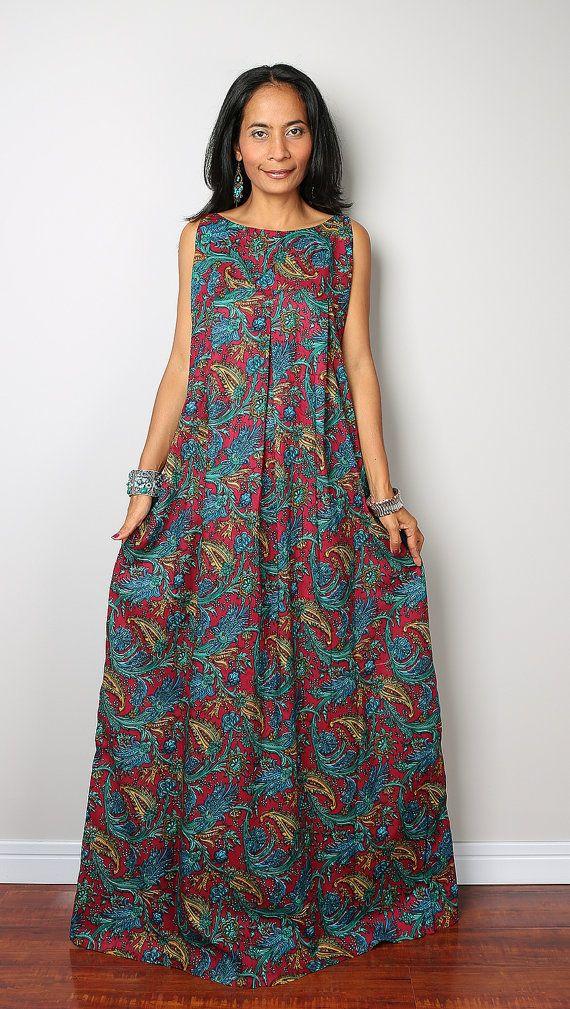 Summer Maxi Dress Funky Boho Dress : Happy Holiday by Nuichan