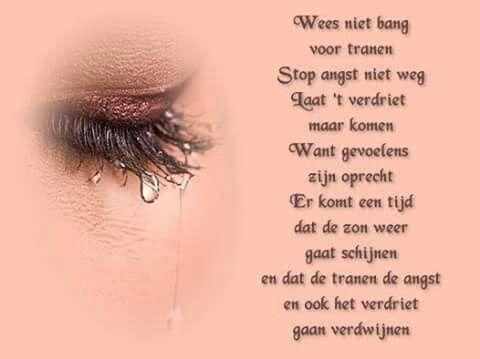 Wees niet bang voor tranen ...