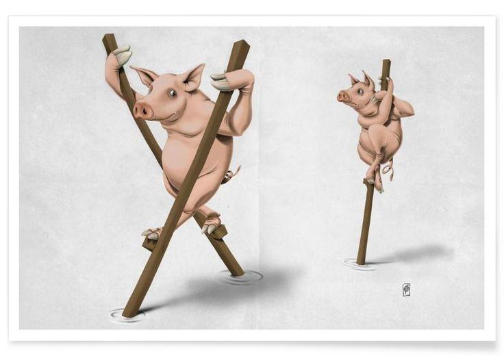 Stick in the mud - Rob Snow | Creative - Premium Poster art | decor | wall art | inspiration | animal | home decor | ideas | gift