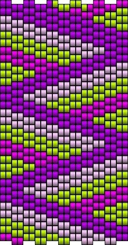 this is a peyote stitch using 2 beads at a time - have made dozens of these!