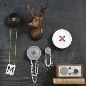 Small Button Wall Hook by HK Living