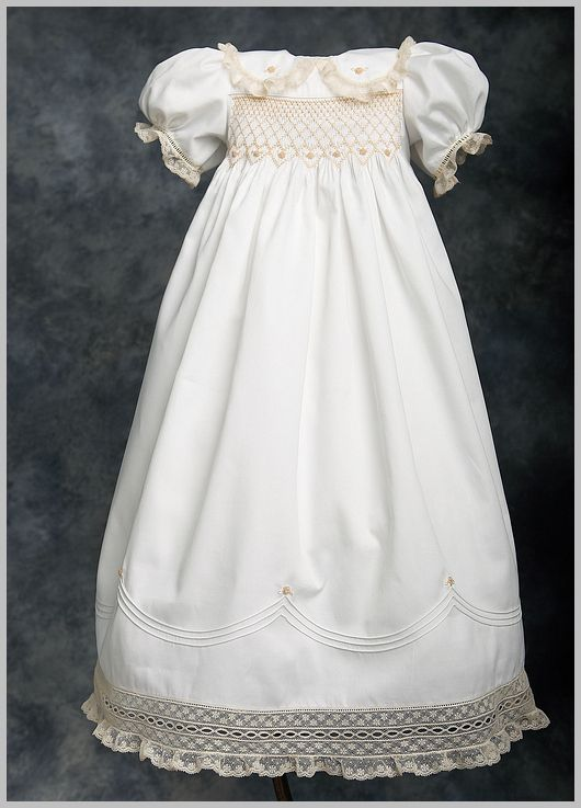 29 Best Smocked Christening Gowns Amp Bonnet Images On