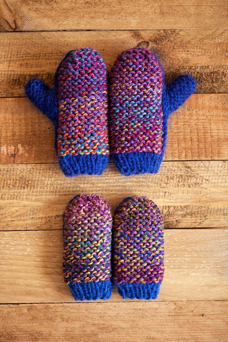 Lawina mittens. Blue Is The Warmest Colour. http://lawinaknit.com/