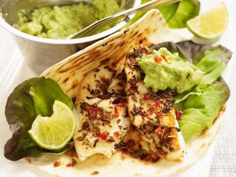 Heta fiskburritos med guacamole | Allt om Mat