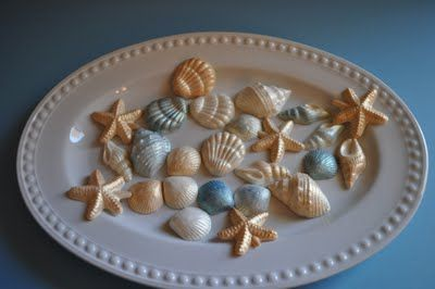 Lavender Clouds: Seashell Cupcakes & Candy Mold Tutorial...how to make white choclate candy molds....