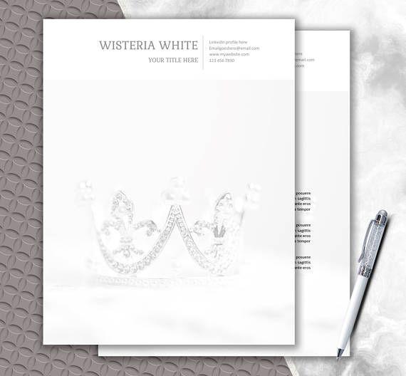 Wedding Paper Instant Download  Custom Letterhead Design