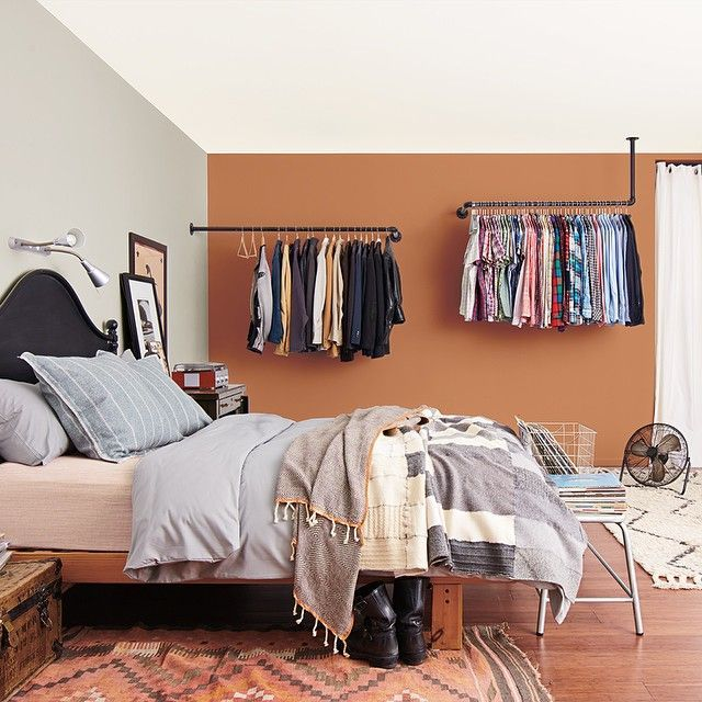 10 Of Our Favorite Colorful Rooms On Instagram #refinery29  http://www.refinery29.com/instagram-colorful-rooms#slide-3  — SPONSORED —Gray + Terra-cotta OrangeWhile we wouldn't have immediately pegged these as obvious bedroom paint hues, this Lowe's snap makes a strong case for the two as the ultimate cozy color pairing....