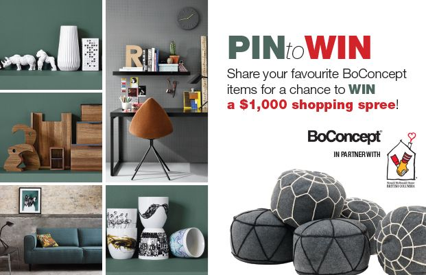 Looking to redecorate or purchase some new #homedecor items for your friends and family this Christmas? Enter to win our Pinterest contest for a chance to win a $1,000 shopping spree at #BoConcept. Click the image for entry form and rules or visit: http://theprov.in/BoContest