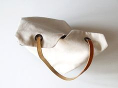 How to: Make a Simple, Go-To Minimalist Tote Bag | Man Made DIY | Crafts for Men | Keywords: sewing, canvas, fabric, leather