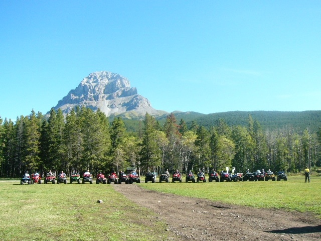 The Crowsnest Pass Quad Squad has great members who are always helping with maintaining our awesome trail system.