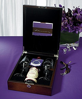 **Love Letter and Wine Box. You can also include CDs of your favorite music, first movie  you saw together, favorite photos of you together, and other mementos making it your own romantic time capsule. Keep the box in a place of honor as a constant visual reminder of your love and commitment to each other. The box can be a life preserver in years to come. http://www.celebrateintimateweddings.com/ceremonylovebox.html