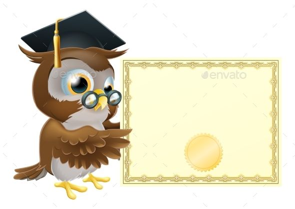 Owl Diploma Certificate #Background - #Miscellaneous #Vectors Download here:  https://graphicriver.net/item/owl-diploma-certificate-background/19719341?ref=alena994