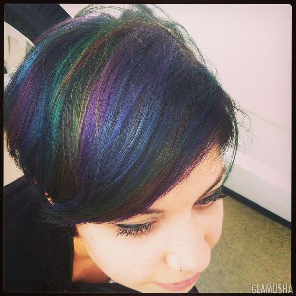 Цветные волосы: 35 модных идей. Разноцветные волосы знаменитостей   GLAMUSHA.ru