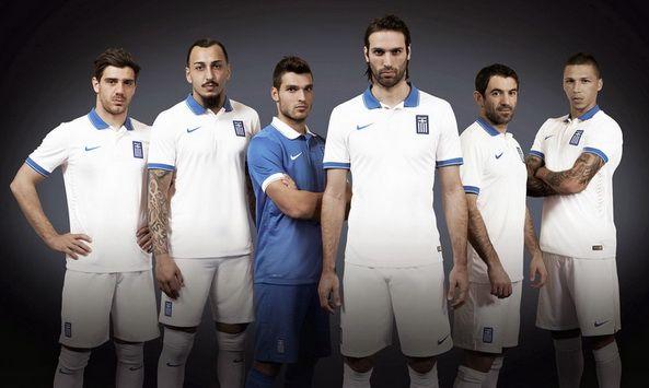 Nueva camiseta del Greece baratas para el mundial 2014