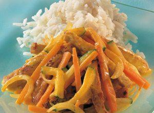 Geschnetzeltes mit Currysahne