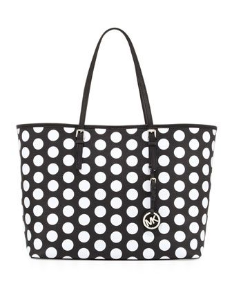 MICHAEL Michael Kors  Medium Jet Set Dotted Travel Tote.
