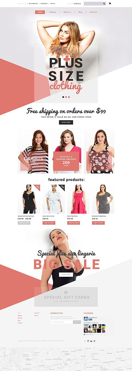 Plus Size Clothing Online Store #Shopify #template. #themes #business #responsive #webshop #Shopifythemes