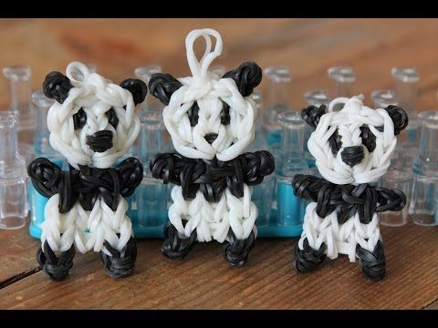 RAINBOW LOOM - PANDA (**not in english**) - IN NEDERLANDS