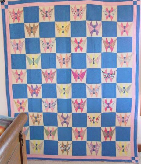 1000 Images About Vintage Butterfly Quilts On Pinterest
