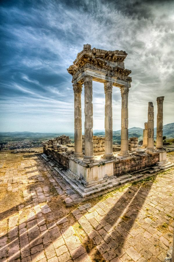 Temple of Trajan, Pergamon, Bergama, Turkey