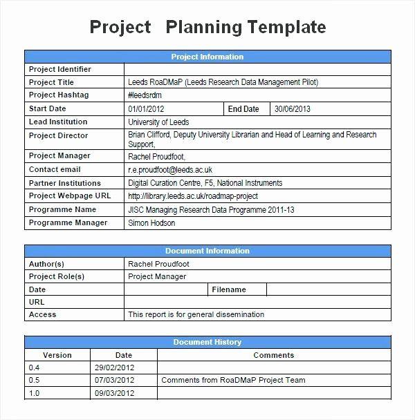 Pilot Project Plan Template Elegant Munication Planning Project Management Pla Project Planning Template Project Management Templates Project Proposal Template