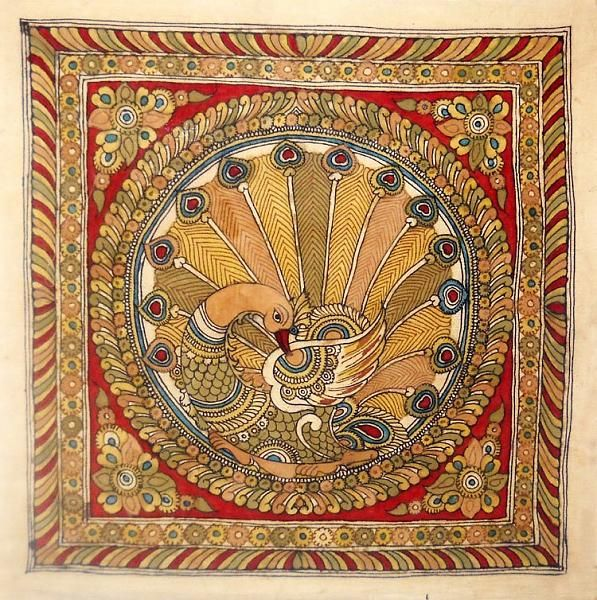 Indian Painting Styles...Kalamkari Paintings (Andhra Pradesh)-kalamkari-peacock1-1-.jpg