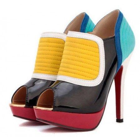 Sapato Pumps Arco-íris couro ecológico, colorido e com costura de alta qualidade R$ 125,00   #sapato #pumps #highheels #saltoalto #mulher #moda #calcados #lojaoziris #sapatocolorido #diva #colorido #ankleboots #arcoiris