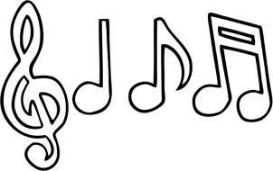 Imágenes de notas musicales. Fiestas infantiles.