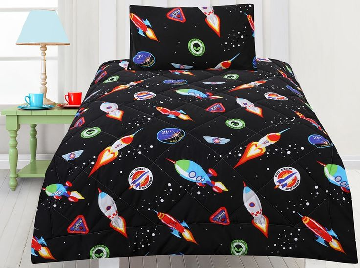 Space Cadets Comforter Set and more space bedding available at Kids Bedding Dreams