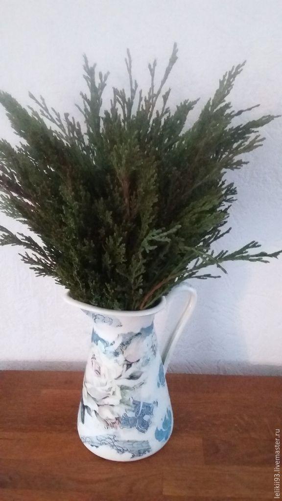 Купить Можжевельник букет интерьерный 30 см - зеленый, ароматерапия, интерьерный букет, новороссийск