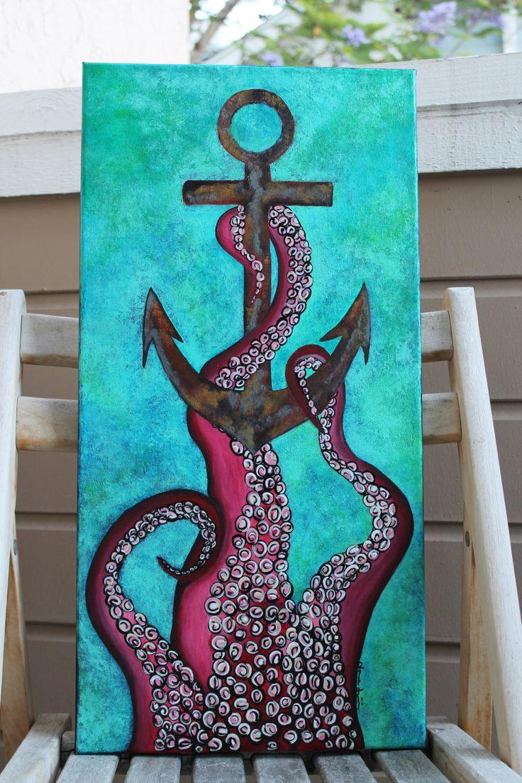Reserve Original Octopus Anchor Ocean Nautical Decor