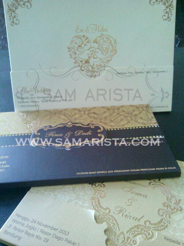 Happy Wedding for Couple :  ❥ Evi Andhitya Wardhani & Helmi Abdillah Yogaswara ; ❥ Irma Novianti & I I Rijal ; ❥ Rena & Vidi. -24 November 2013-  ❥ Fina Ratnawati & Dedi Kurniadi ; ❥ Tania & Jaka . -23 November 2013-   May love always all around you forever ^_^  #kartu #undangan #pernikahan #perkawinan #art #paper #cetak #desain #murah #cepat #samarista #pameran #pesan #jasa #jual #hard #soft #cover #pengantin #bandung #acara #couple