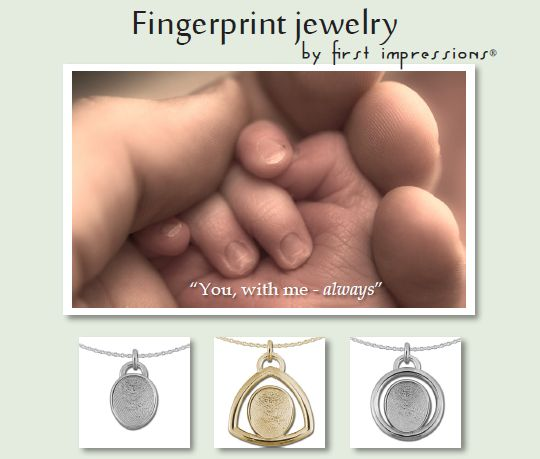 Fingerprint Jewelry by first impressions