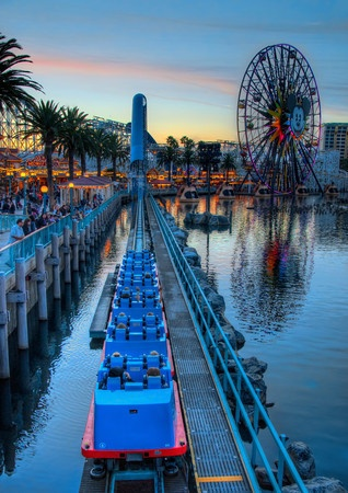 Screamin' Into the Evenin'    While the sun sets upon Paradise Pier, the screams from California Screamin' echo across the bay. The glow from the boardwalk lights seems to invite guests a little farther down the pier to take a chance at some interesting games...    Read more here at Tours Departing Daily
