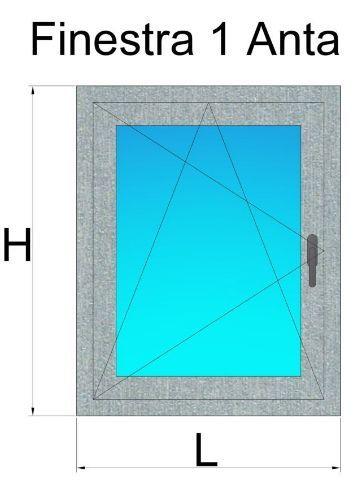 Finestre in pvc 1 anta grigio alluminio prezzi e offerte for Offerte infissi in pvc