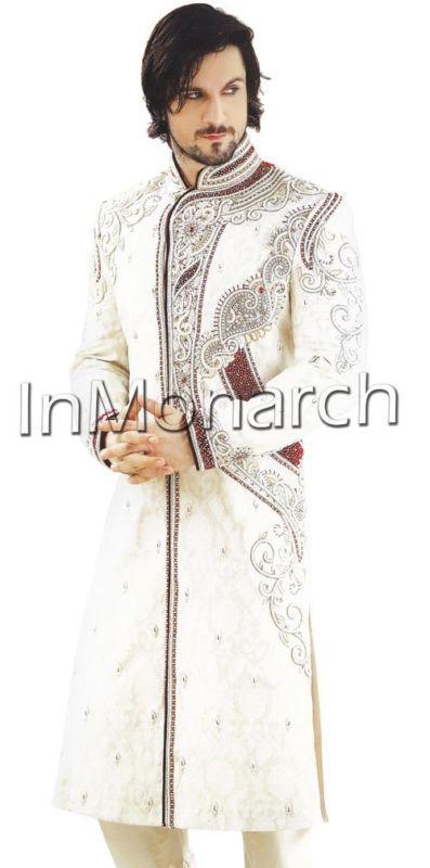 Traditional Wedding Groom Sherwani Indian Designer Mens Sherwani Suits SH448