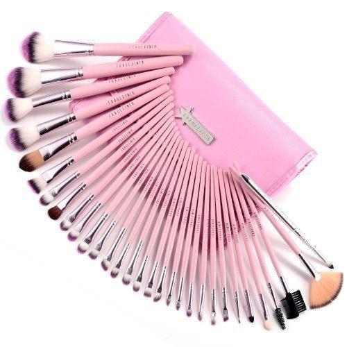 31pcs Trousse pinceaux maquillage ROSE fard a paupieres ombre, http://www.amazon.fr/dp/B00EYZPDDQ/ref=cm_sw_r_pi_awdl_sqP9tb02GF6P2