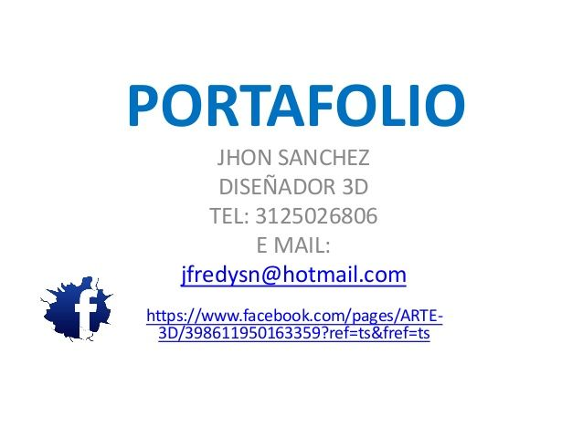 Portafolio jhon sanchez by John Sanchez via slideshare